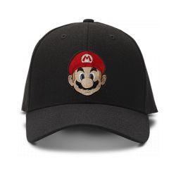 casquette MARIO BROS VINTAGE logo brodée de couleur noire