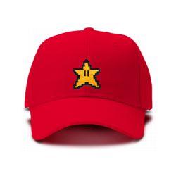casquette MARIO BROS STARS logo brodée de couleur rouge