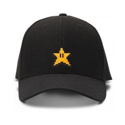 casquette MARIO BROS STARS logo brodée de couleur noire