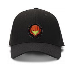 casquette METROID logo brodée de couleur noire