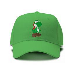 casquette MARIO BROS YOSHI logo brodée de couleur verte