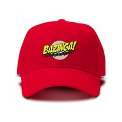 casquette BAZINGA BIG BANG THEORY logo brodée de couleur rouge