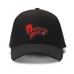 casquette AMERICAN DAD brodée de couleur noire
