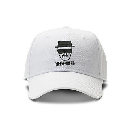 casquette HEINSENBERG BREAKING BAD brodée de couleur blanche