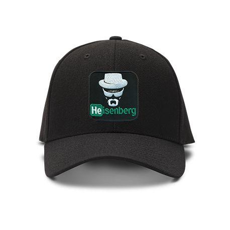casquette HEINSENBERG BREAKING BAD brodée de couleur noire