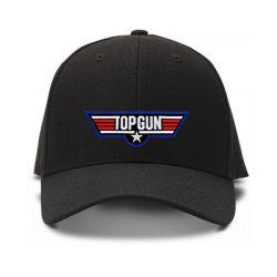 casquette TOP GUN brodée de couleur noire