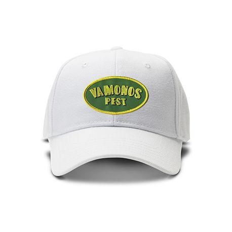 casquette VAMONOS PEST BREAKING BAD brodée de couleur blanche