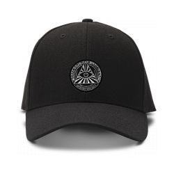 casquette ILLUMINATI OEIL brodée de couleur noire