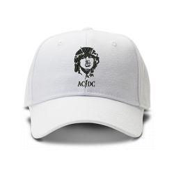 casquette ACDC brodée de couleur blanche