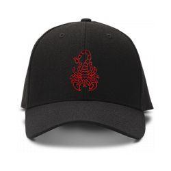 casquette SCORPION brodée de couleur noire