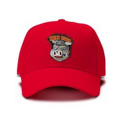 casquette WILD DOGS brodée de couleur rouge