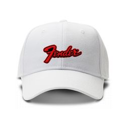 casquette FENDER brodée de couleur blanche