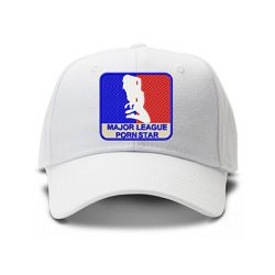 casquette MAJOR LEAGUE PORNSTAR brodée de couleur blanche