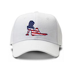 casquette AMERICAN PORNSTAR brodée de couleur blanche