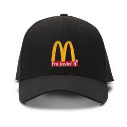 casquette I M LOVIN IT brodée de couleur noire