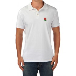 Polo rugby england blanc