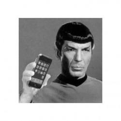 Shirt spok swag avec son iphone pour homme et femme blanc