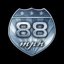 Shirt 88 mph back to the futur noir pour homme et femme