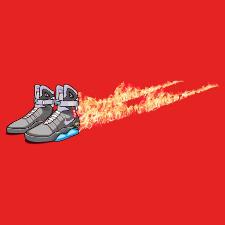 Shirt nike air mcfly back to the futur rouge pour homme et femme