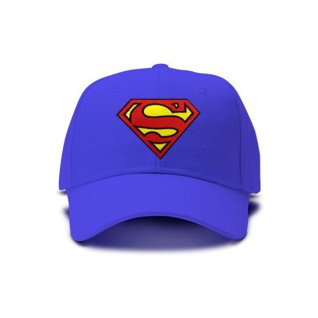 casquette SUPERMAN bleu royal