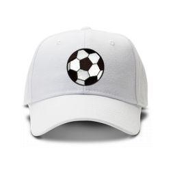 casquette football blanc brod'e de couleur blanche