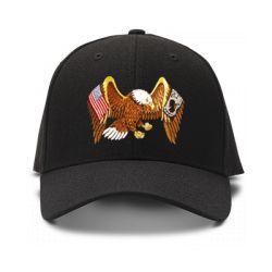 casquette Eagle brod'e de couleur noire