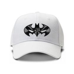 casquette batman brod'e de couleur blanche
