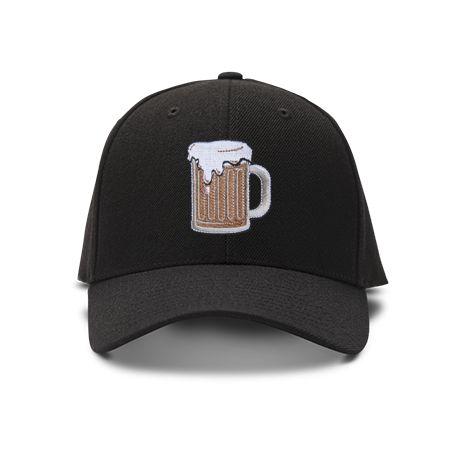 casquette choppe de biŠre brod'e de couleur noire