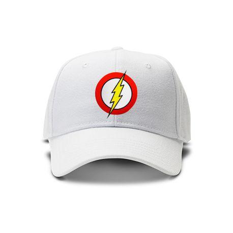 casquette flash brod'e de couleur blanche