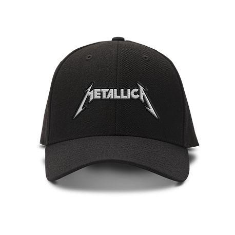 casquette metallica brod'e de couleur noire