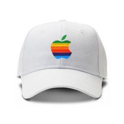 casquette apple brodee de couleur blanche