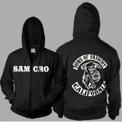 veste à capuche samcro sons of anarchy