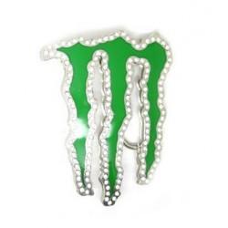 Boucle de ceinture monster energie acier chrome