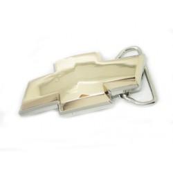 Boucle de ceinture chevrolet acier chrome