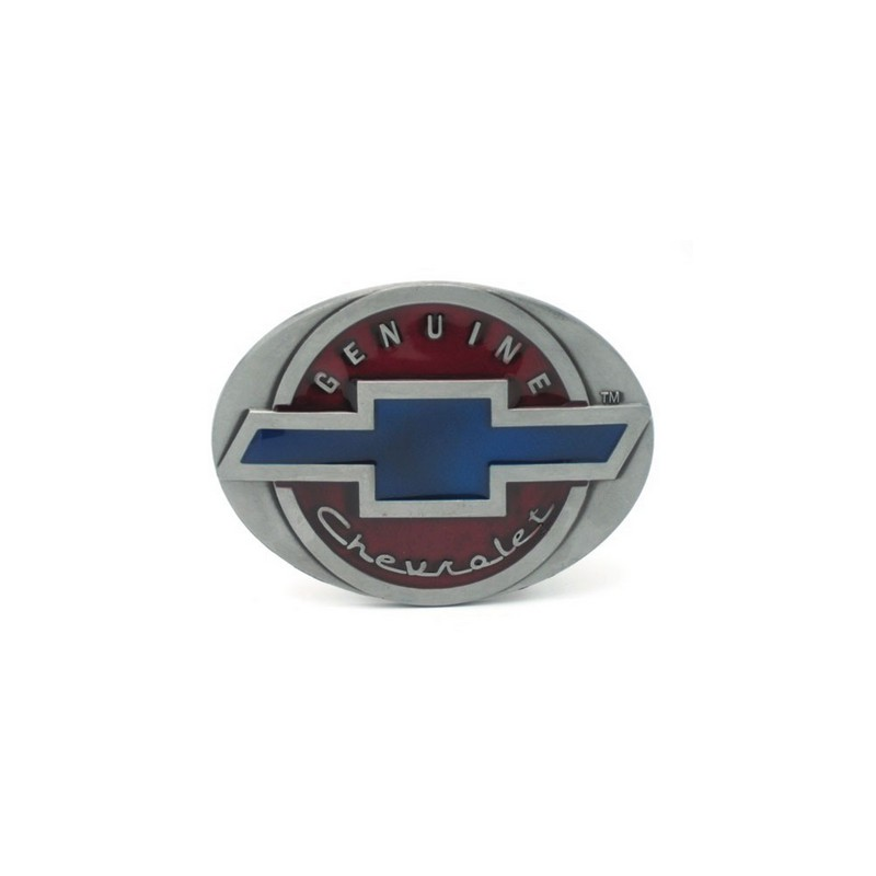a159c34ed75f Boucle de ceinture chevrolet vintage acier chrome