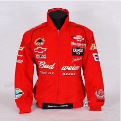 veste f1 budweiser auto racing moto gp coupe vent rouge