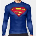 Tee shirt superman moulant à compression bleu royal