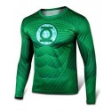 Tee shirt Green lantern moulant à compression cosplay