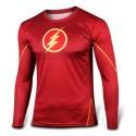 Tee shirt Flash moulant à compression cosplay