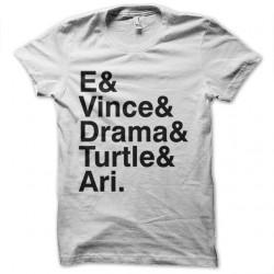 Shirt entouarge blanc pour homme et femme