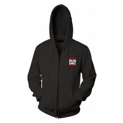 Veste run dmc couleur noir à capuche