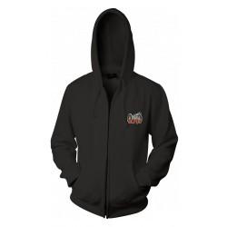 Veste AC DC couleur noir à capuche