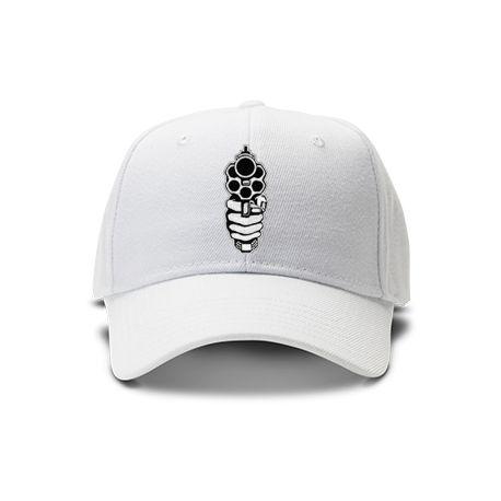 casquette revolver de couleur blanche
