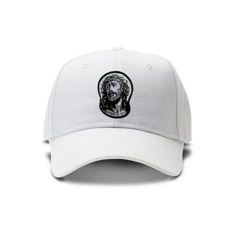 casquette jesus de couleur blanche