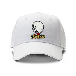 casquette golf de couleur blanche