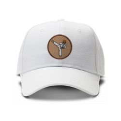 casquette chuck norris de couleur blanche