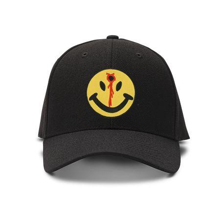 casquette smiley headshot de couleur noire