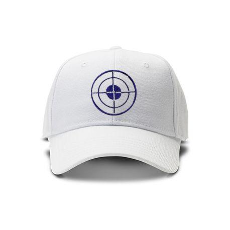 casquette cible tir de couleur blanche