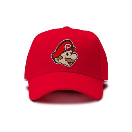 casquette Mario bros brodée de couleur rouge