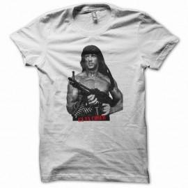 Shirt Rambo ça va chier b&w version original blanc pour homme et femme